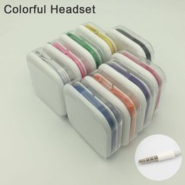 Wholesale Headphones Android Control - 3.5mm Universal Colorful Earbuds In-Ear Stereo Headphones With Mic and Volume Control Earphone For sony Samsung S7 S8 Android