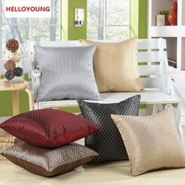 BZ016 Cojín de lujo Cobertura Funda de almohada Textiles para el hogar suministros Lumbar almohada cuadrícula en forma de almohadillas decorativas asiento de silla desde fabricantes