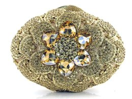 Wholesale Embroidery Swarovski Crystals - Vintage New Style Wedding Bridal Party Ladies Silver Handbags Crystal Rhinestone Designer Ring Swarovski Shoulder Wallet Purse Makeup Kit