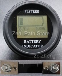Wholesale Electrical Parameter - Round Coulombmeter lithium lifePo4 batteries real capacity LCD indicator electric parameter meter coulometer 200V200A electric bike vehicle