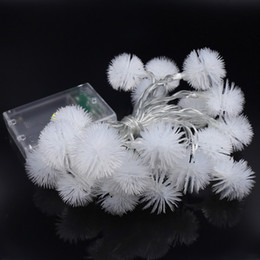 Wholesale Party Lights Indoor - Indoor Led String Lights 2M 20leds Warm White Puffer Ball Christmas Lights Decorative for Indoor Garden Patio Party and Holiday Decoration