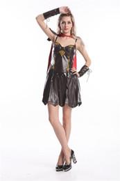 Wholesale Lady Fancy Dress Free - Free shipping Ladies Xena Gladiator Warrior Princess Roman Spartan Fancy Dress Costume halloween costume party costume