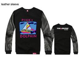 Wholesale Women S Leopard Sweatshirt Hoodies - hip hop autumn and winter men and women leather and leopard long sleeve love sweatshirts pink dolphin men hip hop hoodies cheap