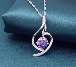 Wholesale Woman Love Drops - S925 Sterling Silver Pendant Classic Fasion Drop Pendent Necklace Woman Fashion Crystal Diamond Pendant Necklaces Wholesale