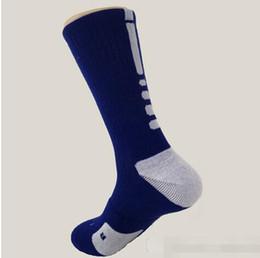 Wholesale Long Striped Socks For Men - 2016 Hot selling 6pairs elite socks cotton sport socks cotton towel men basketball Socks long custom elite sock deodorant for men