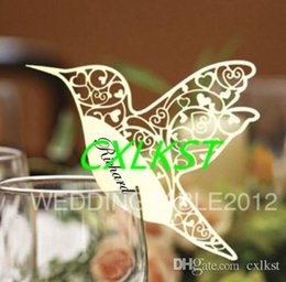 Wholesale Christmas Dinner Plates - Humming Bird Place Card - Glass Card - Weddings - Dinner Parties-Party Decoration Good Quality Brand New