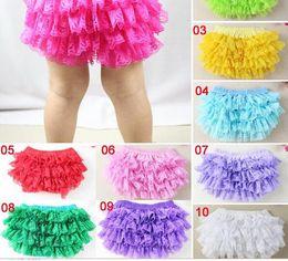Wholesale Pink Cloth Diapers - Children Summer Clothes Baby Girl Lace Tutu PP Pants Multi color Photo clothing Underpants Cotton Cloth Diaper Cover 10pcs lot