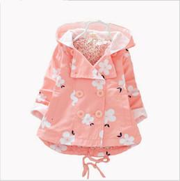 Wholesale Infant Lace Jacket - 2016 NEW Girls Coat Jacket Spring Autumn Girls Double Breasted Cardigan Infant baby kids Lace Coat Children Outwear Coats