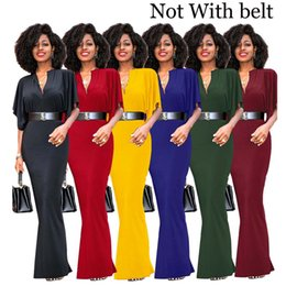 Wholesale Womens Clubwear Dresses - Womens Evening Casual Cocktail Party Long Maxi Dress Ladies Short Sleeved V-Neck Clubwear Dresses