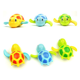 Wholesale Turtle Mini Toys - Newborn Cute Cartoon Animal Tortoise Baby Bath Toy Infant Swim Turtle Chain Clockwork Classic Toys Kid Educational Toys