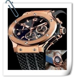 Wholesale Luxury Watches Big Bang - luxury big bang brand new! Luxury men's steel mechanical sports style F1 racing watch, black  gold style, fashion jason007