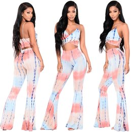 Wholesale Western Coat Pant - Western style Milk silk printing In the waist trousers pants suits for women wide pants 2 piece set women vest and pants in Short coat