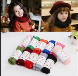 Wholesale Wholesale Fashion Accessory Scarf - kids Scarves Fashion Scarf Baby Solid Colors Linen Scarf Warm Shawl Neck Scarves Neckerchief Winter Shawl Children Accessories KKA2858