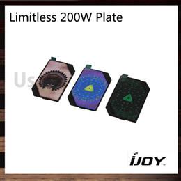 Wholesale chief skull - iJoy Limitless 200W TC Box Mod Replacement Plate Shell Green Bandana Skull Chief Rainbow Bandana 100% Original