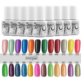 Wholesale Gelish Nails - Long-lasting Colors soak off gel polish nail UV gel lacquer varnish for gelish nail polish uv gel 204 Colors 5ml free shipping