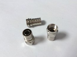 Wholesale Rg6 Coax Cable Connectors - 100pcs RG6 F Type Crimp On Connector for TV Coax Cable ADAPTER