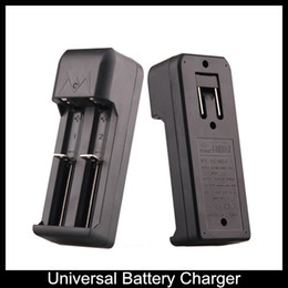 Wholesale Plug Eu For Battery Charger - Dual Slots Universal US EU Plug Rechargeable battery Wall Charger specially for Electronic Cigarette 18650 18350 dry battery wall charger