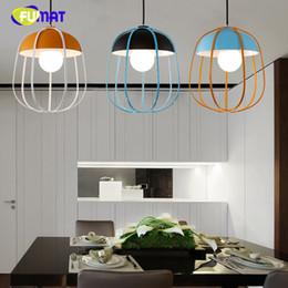 Wholesale Coloured Light Pendants - Brief Loft Pendant Lamp Bar Restaurant Creative Metal Pumpkin Suspension Lamp Bright-coloured Living Room Kitchen Office Lamp