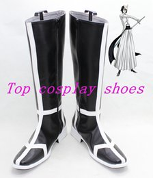 Wholesale Break Boots - Wholesale-Bleach Ulquiorra cifer Broken Mask Arrancar cos Cosplay Boots Shoes shoe boot #15YJZ26