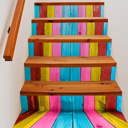 Pegatinas decoracion escaleras online-Eco Friendly 3D Sticker 6Pieces / Set Creativo Diy 3D Escalera Pegatinas Patrón de azulejos de cerámica para escaleras de la habitación Decoración Piso Etiqueta de la pared