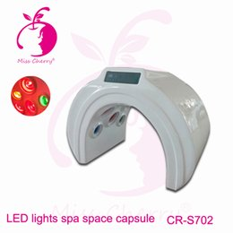 Wholesale Infrared Capsule - Far infrared steam sauna dry spa capsule heat energy LED colouful light body slimming Spa capsule CR-S702