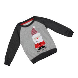 Wholesale High Fashion Baby Boy Clothes - Wholesales Cartoon Santa Baby Boy Clothes Spring Autumn O-Neck High Quality Children T-shirt Christmas Long Sleeve Boys Sweater