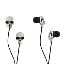 Wholesale High Performance Ear Earphones - Wholesale-1pc Unique Design 3.5mm In ear earphone High Performance Metal skull headphone, C1