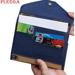 Wholesale Travel Wallet Document Holder - Wholesale- PLEEGA Brand Multifunctional Travel Passport Bag Envelope Wallet PU Leather Passport Cover Travel Documents Bag Card Holder Bag