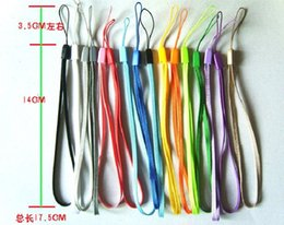 Wholesale Cell Phone Hand Wrist - Free shipping wrist hand cell phone mobile chain straps keychain Charm Cords DIY Hang Rope Lariat Lanyard 1000PCS