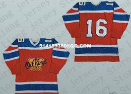 Wholesale Team Edition - Deluxe Edition #16 Edmonton Oil Kings Defunct Team Hockey Jersey Red or Custom any number name Mens Stitched jerseys