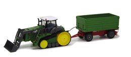 Wholesale Motor Trailers - Wholesale- Crawler RC Truck 1:28 Multifuncional rc farm trailer tractor truck with dump up and down big engineering truck toys for child