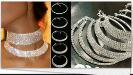 Wholesale Titanium Chokers - 2017 Women Crystal Diamante Rhinestone Necklace Silver Plating Wedding Bridal Party Collar Choker Chain Necklace Jewelry Gifts