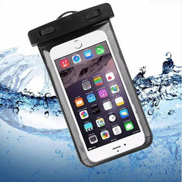 Wholesale Iphone Smart Cases - Dry Bag Waterproof case bag PVC Protective universal Phone Bag Pouch With Compass Bags For Diving Swimming For iphone X 8 smart phone OM-XC9