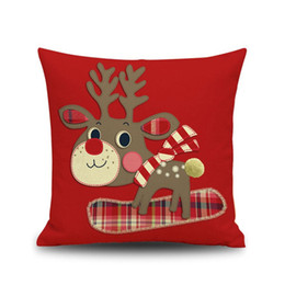 Wholesale Wholesale Kid Pillow Cases - new Christmas decoration Pillow cushion covers Without Pillow core 44*44cm Christmas series kids gifts Pillow Case Cover Car Decor wholesale