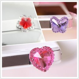 Wholesale Candy Cell Phone Dust Plug - Wholesale-DHL FEDEX free shipping 3 style kpop cute popular candy heart anti dust plug for cell phone ks fashion earphone cap Wholesale
