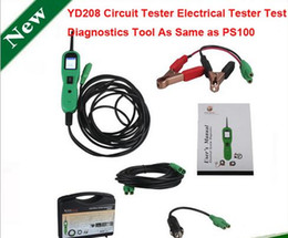 Wholesale Gm Electric Car - YD208 Electrical System Circuit Tester Car Automotive Electric Circuit Tester Function Same as Autel PowerScan PS100