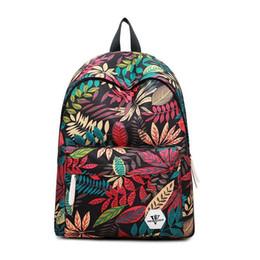 Wholesale Fashionable Backpacks For Men - New Student Breathable Backpacks Fashionable Outdoor Women Korean Travel Backpack Waterproof School Bags for Girls Printing Bags Baobao