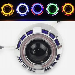 Wholesale Ccfl For Cars - New Universal Hid Car Headlights for Cars Left Right Hid Ballasts Plus Dual CCFL Angel Eyes Car Headlights