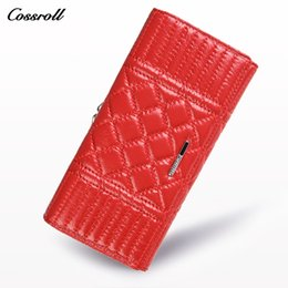 Wholesale American Dollar Coins - Women Wallets Brand Long Design High Quality Genuine Leather Wallet Female Fashion Dollar Price Cowhide Women Wallets and Purses