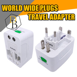 Wholesale Wall Outlet Adapters - Travel adpater worldwide use universial outlet plugs for UK US EU JAPAN socket wall charger 125v 6A 250v 13A surge protection