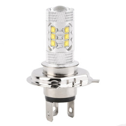 Wholesale Auto Headlight Switch - 1Pcs H4 80W Cree LED Car Fog Lamp H4 Led Headlight Bulb Auto Lights Car Led Bulbs Car Light Source Parking 12V 6000K Xenon White order<$18no