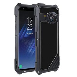 Canada Samsung S8 Armor Steel Cover étanche Alliage D'aluminium Ultra-Mince Cas En Métal Étui pour Téléphone Portable avec Objectif pour S8 Plus cheap alloy armor Offre