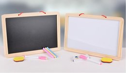 Wholesale Digital Counting - Wooden Double Sided Magnetic Blackboard Wall Hanging Message Board Alphabet Digital Fight Board For Children Event Decoration Supplies