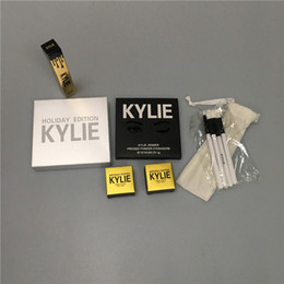 Wholesale Eye Mix Color - 2018 Kylie Cosmetics Jenner Kyshadow eye shadow kylie bag with holiday lip gloss lip purple palette free shipping