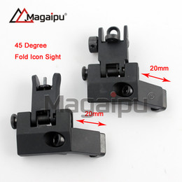 Wholesale Iron 45 - Tactical RTS AR15 M6 Front and Rear 45 Degree Rapid Transition Iron Rear Sight Scope Mount RTS Rear Sight AR 15 gun Accessories
