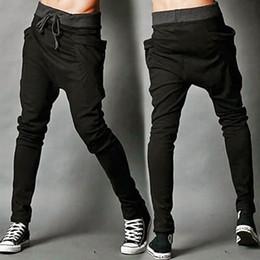 Wholesale Wholesale Black Drop Crotch Pants - Wholesale-2016 New Fashion Men's Casual Baggy Jogger Harem Drop-crotch Loose Sweatspants Pants Trousers