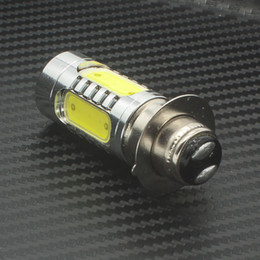 Wholesale Yamaha Wheels - Xenon White 7.5W LED COB H6M PX15D Fog Light Headlight Lamp Car Motorcycle Bike Indicator Bulb Red Yellow Iceblue Lights