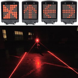 Wholesale Bicycle Turn Signals Led - 2016 NEW 64 LED Laser Bicycle Rear Tail Light USB Rechargeable With Wireless Remote Bike Turn Signals Safety Warning Light