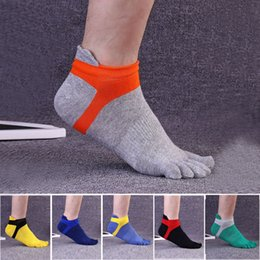 Wholesale Toes Socks Wholesale - Hot Sale 1 Pairs  Lot Fashion Spring Winter Style Meias Men Women's Socks Five Finger Cotton Polyester Breath Toe Sock 6 Colors