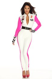 Wholesale Sexy Racing Uniform - Ladies Sexy Racing Catsuit Jumpsuits & Playsuits Costume Uniform Fancy Dress SM89193